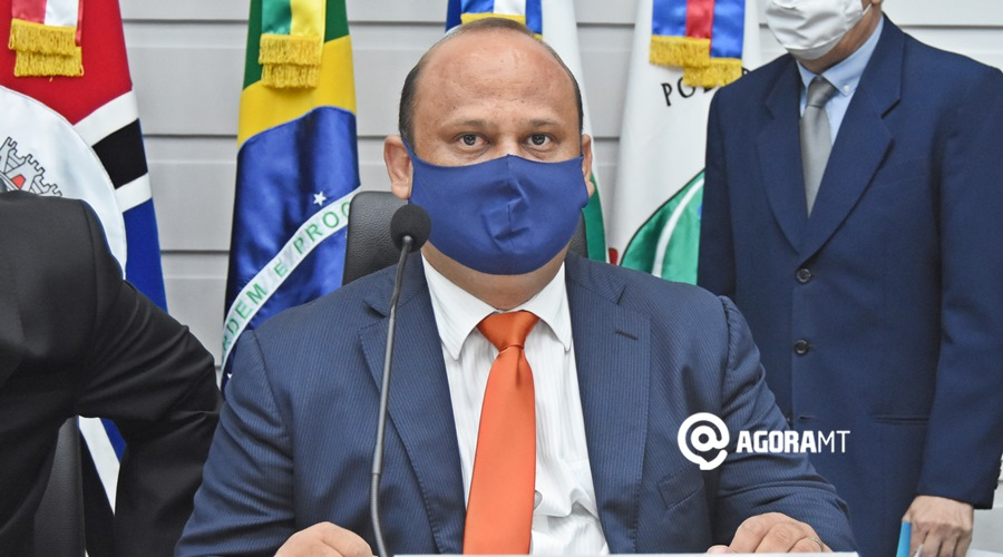 Imagem: Presidente da Camara de vereadores de Rondonopolis Roni Magnani AGORA MT estreia programa de lives com entrevista sobre Covid-19 e impostos