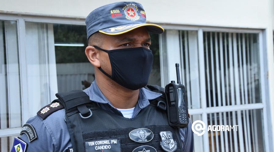 Imagem: Ten Coronel PM Candido PM apreende arma e três são detidos por porte e uso de drogas