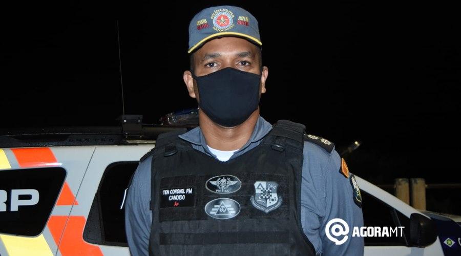 Imagem: Tenente Coronel Candido Copia PM e Corpo de Bombeiro impedem homem de pular de ponte do Rio Vermelho