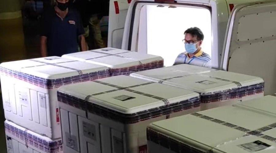 Imagem: Vacinas covis ja chegaram em MT Doses da vacina contra a Covid-19 já estão em Mato Grosso