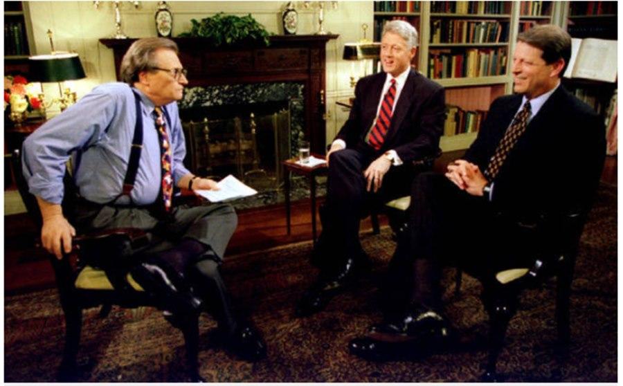 """Imagem: apresentador americano Famoso apresentador americano """"Larry King"""" morre de covid-19"""