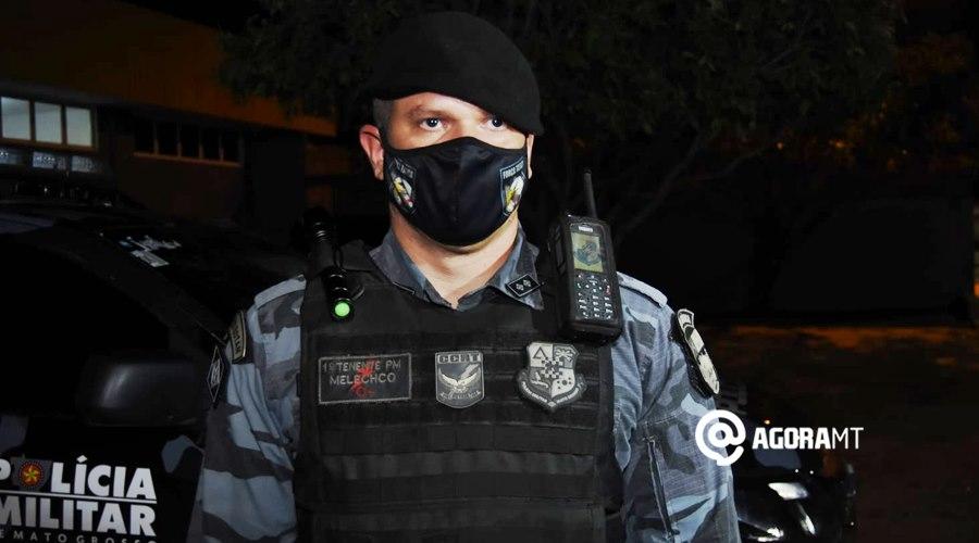 Imagem: 1o Tenente PM Melechco Força Tática prende suspeito de tráfico e tira droga de circulação