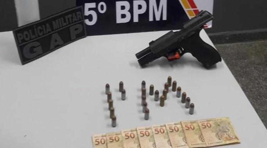 Imagem: 4e93a448 e4c5 4da6 ada8 d7ed0a03ce4a Homem com passagem por homicídio é detido com arma e munições