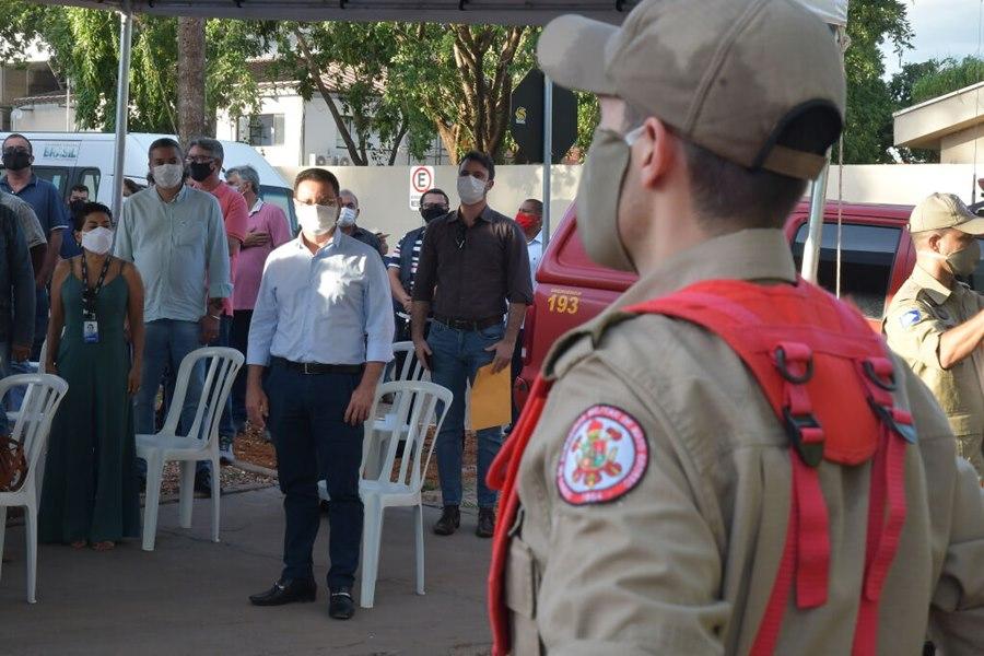 Imagem: BOTELHO CORPO DE BOMBEIROS Presidente da ALMT destaca importância do 1º Pelotão do Corpo de Bombeiros de Poconé