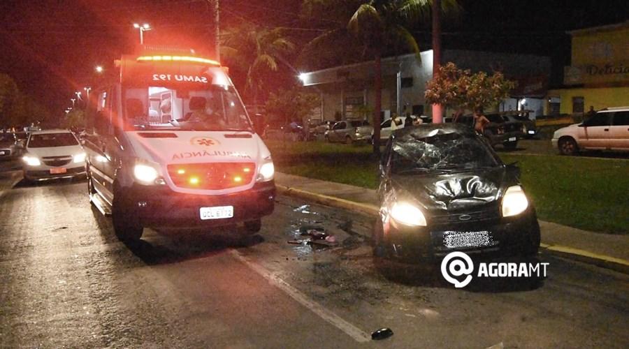 Imagem: Capotamento na Avenida Irma Bernada Motorista é preso após dirigir embriagado e provocar acidente