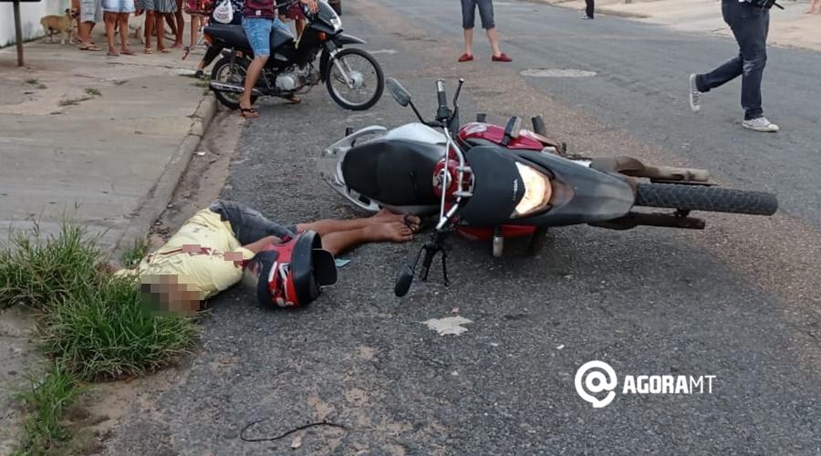 Imagem: Homem morto em Primavera do Leste MT Motociclista é assassinado com cinco tiros no meio da rua