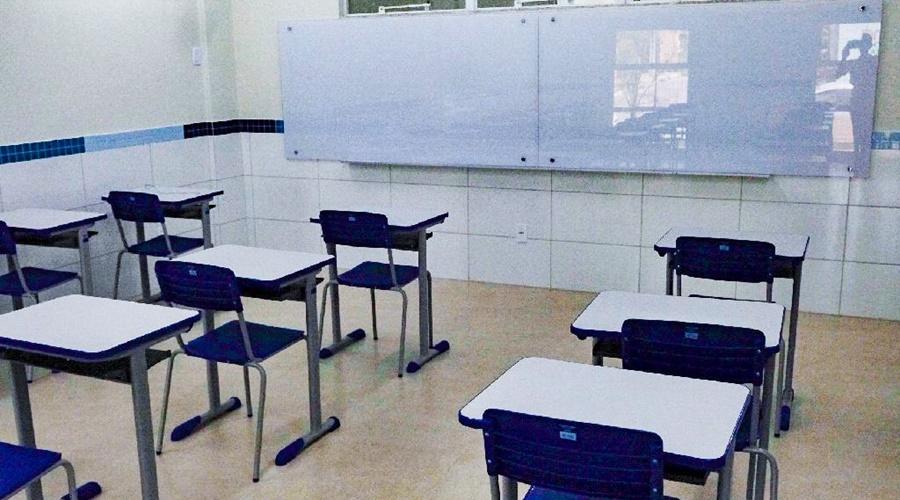 Imagem: Sala de aula Rede estadual de ensino volta às aulas nesta segunda-feira