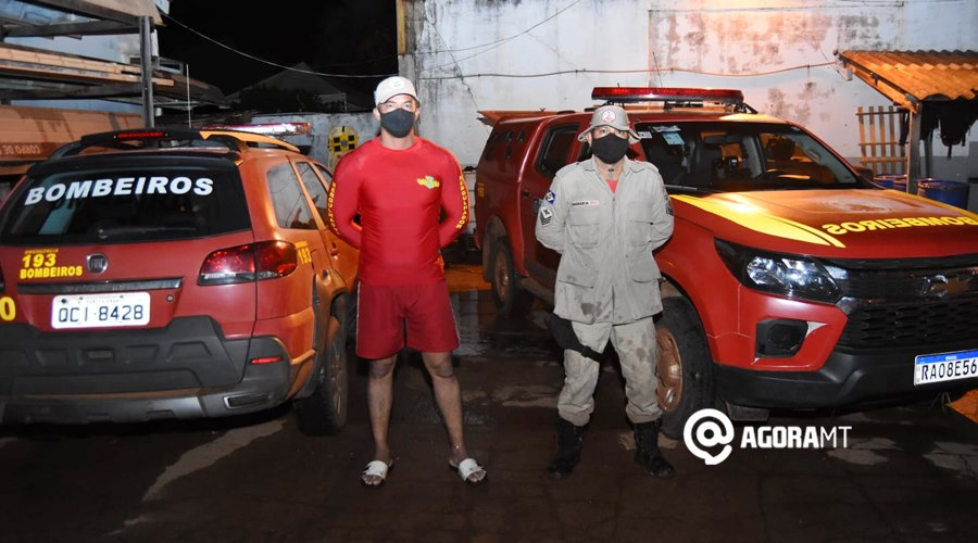 Imagem: Sargento Adriano e Sargento Souza Bombeiros localizam corpo de jovem que se afogou em Rondonópolis