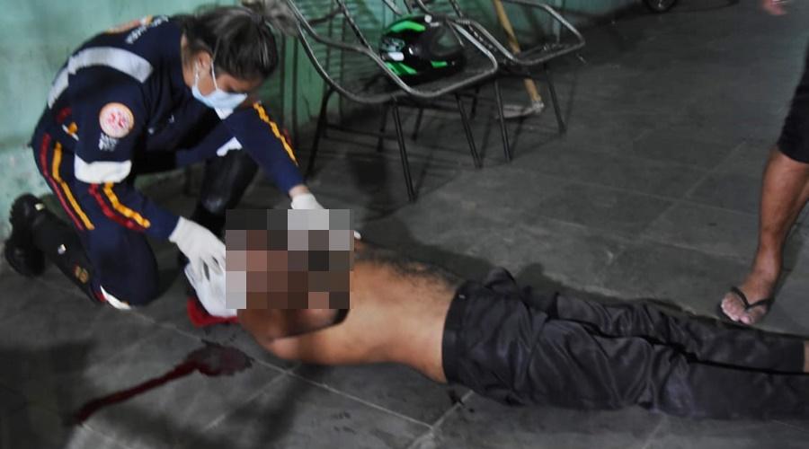 Imagem: WhatsApp Image 2021 02 28 at 20.42.54 1 Idoso é atingido no rosto com golpes de enxada após discussão com 'amigo'