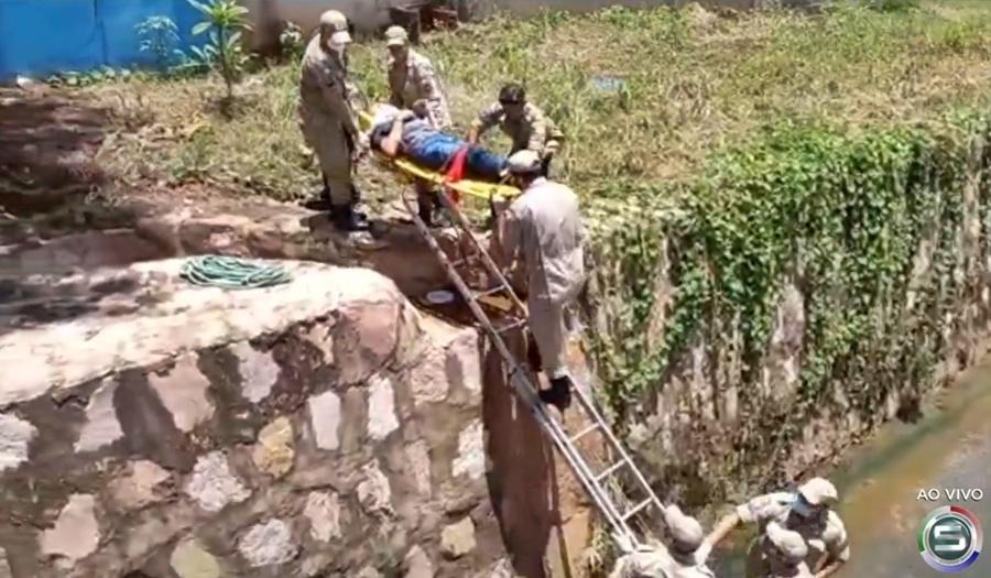 Imagem: queda Jandir 2 Repórter Jandir Martins cai em córrego durante reportagem