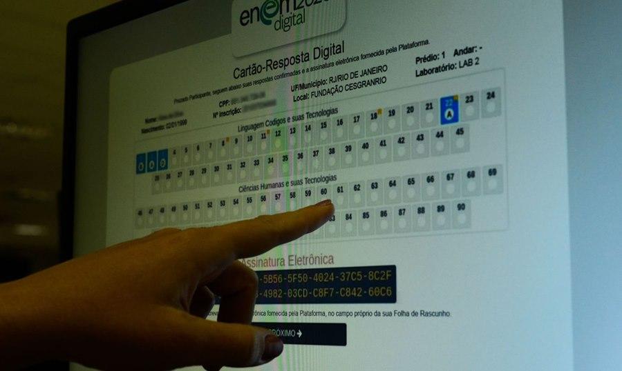Imagem: Cartao resposta enem Inep divulga notas finais do Enem versão impressa e digital