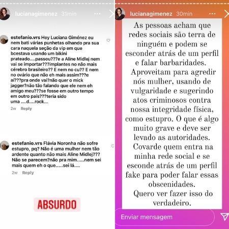 Imagem: Desabafo Luciana Gimenez Luciana Gimenez desabafa sobre assédio que sofreu na Web e expõe internauta