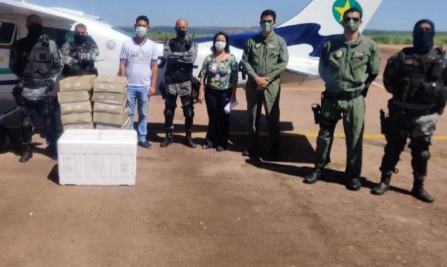 Imagem: PM faz escolta de vacina Polícia Militar de MT faz transporte e escolta da vacina contra a Covid-19 no Estado