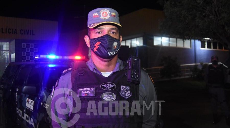 Imagem: Tenente Coronel Candido Força Tática prende em flagrante suspeito de tráfico com cerca de 50Kg de droga