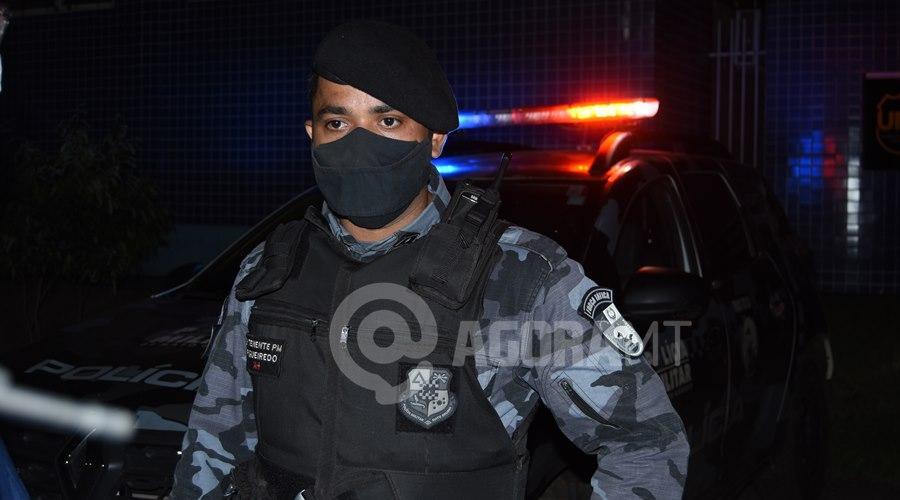 Imagem: Tenente Figueiredo Forca Tatica Força Tática apreende indivíduo suspeito de tráfico no Jardim Liberdade