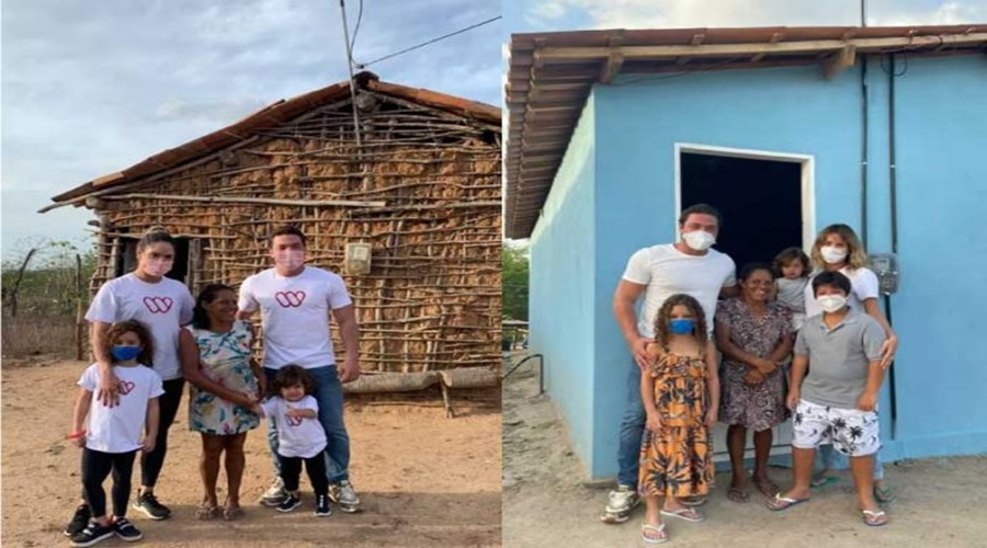 Imagem: Wesley Safadao doa casa para familia carente Wesley Safadão presenteia família carente com casa mobiliada