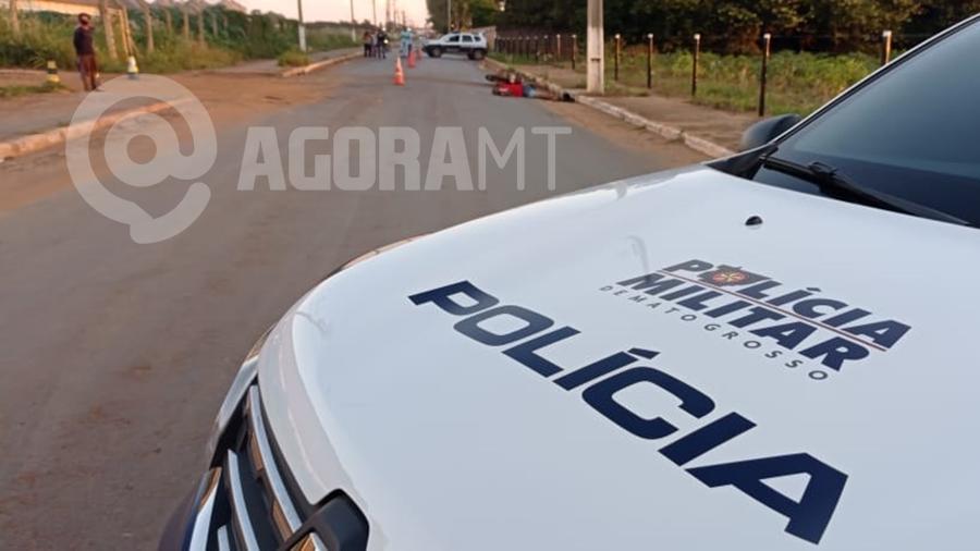 Imagem: acidente vitima fatal foto Anderson Silva TV PRIMAERA Motoqueiro morre após perder o controle e bater em poste