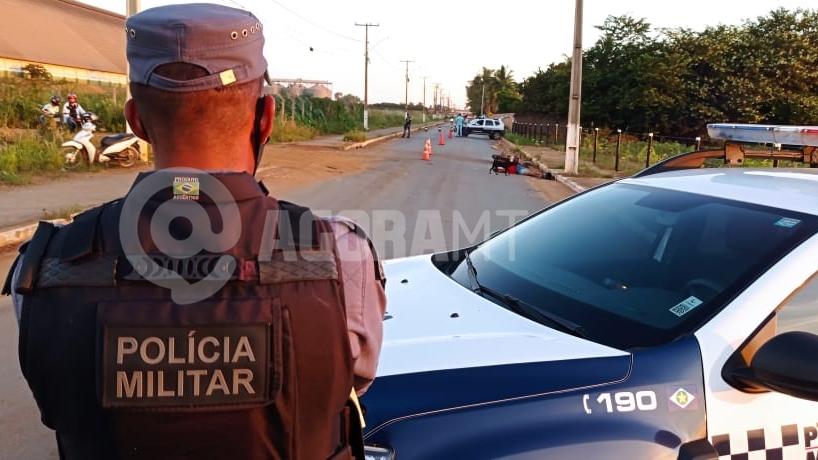 Imagem: acidente vitima fatal foto Anderson Silva TV PRIMAERA.jpeg2 Motoqueiro morre após perder o controle e bater em poste