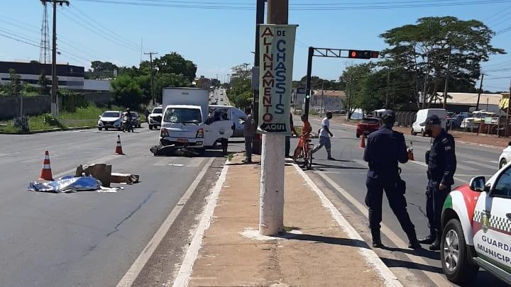 Imagem: acidente julio campos varzea grande foto guarda municipal Motociclista morre em acidente após fazer manobra arriscada