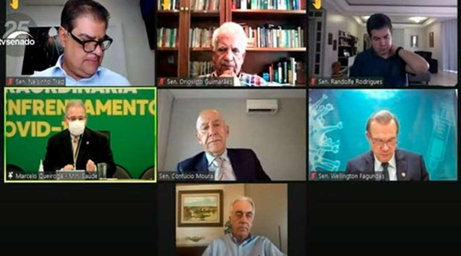Imagem: audiencia queiroga Senador cobrou de Queiroga respostas sobre vacinas e crise em MT