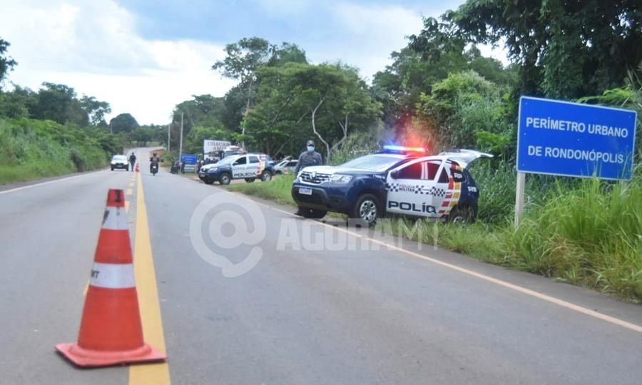 Imagem: barreira sanitaria Fiscalização apreende bebidas sendo transportadas para Rondonópolis