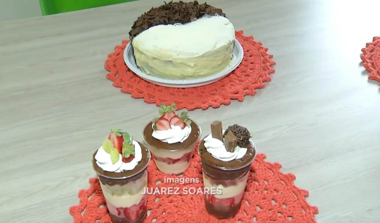 Imagem: bolo copo da felicidade foto Juarez Soares Conheça a professora que hoje vive da produção de doces em Rondonópolis