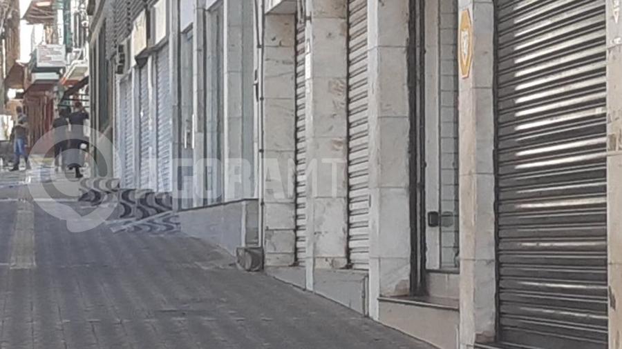 Imagem: comercio fechado cuiaba mt decreto quarentena lockdown foto predro couto Primeiro dia de quarentena marcado por dúvidas de comerciantes