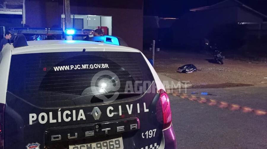 Imagem: homicidio em Primavera Homem é morto na calçada de casa em Primavera do Leste
