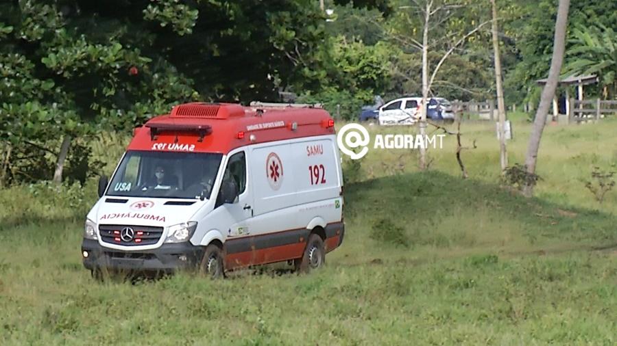Imagem: samu policia fazenda Foto Ze Roberto TV Cidade Homem é encontrado morto com órgão genital na boca