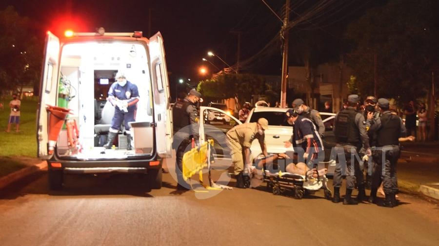 Imagem: vitima socorrida samu av estudantes tentativa homicidio foto messias filho Com vasta ficha criminal, jovem é baleado em Rondonópolis