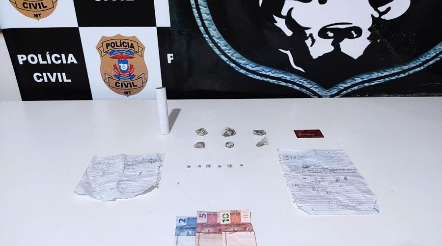 Imagem: 01529b81 8378 4e5f a605 fa5fa56d3c34 Derf detém suspeito de tráfico de drogas e apreende entorpecentes