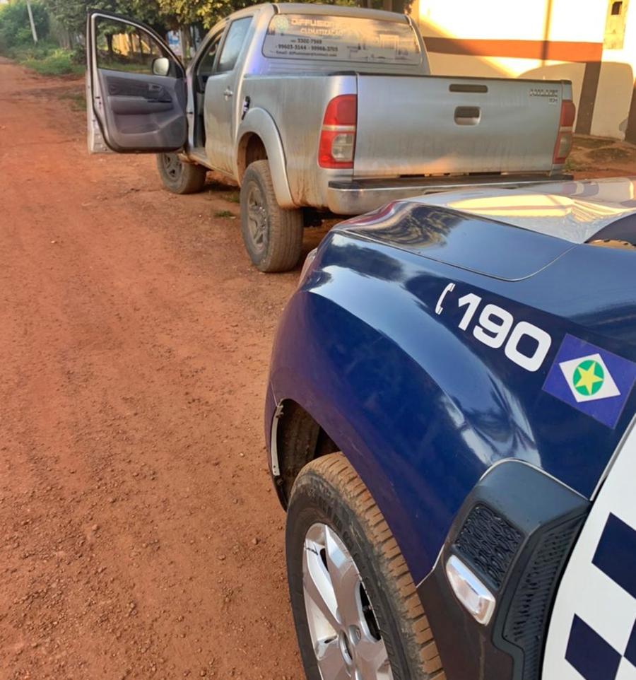 Imagem: 06dd262f fcd1 4cfe b0e8 885ee2cc964a Polícia Militar recupera caminhonete roubada