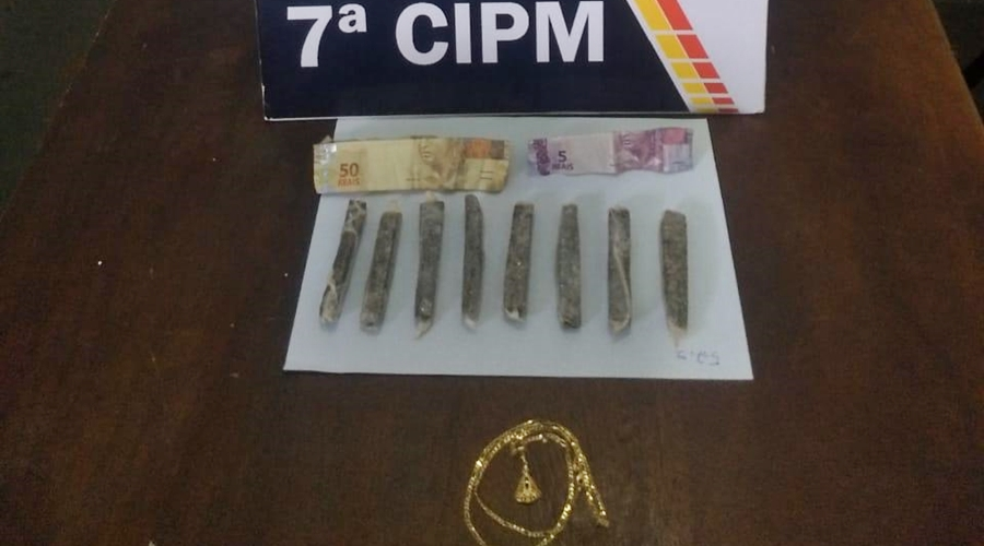 Imagem: 270d11e7 4823 4946 af4e 8c3cc03134ea PM prende suspeito de tráfico de drogas e apreende maconha