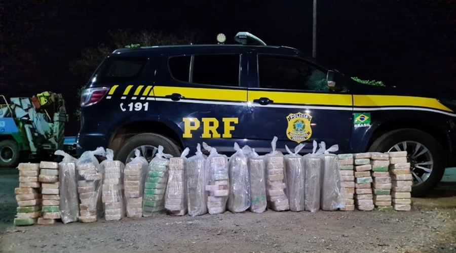 Imagem: 3884fce1 2a8d 4711 ae9e b8b05f1ba6a3 PRF apreende mais de 200 Kg de pasta base de cocaína