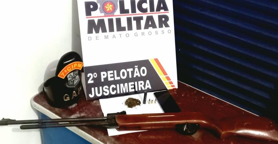 Imagem: 98529012 aff2 4c66 a52a ab2d023958ec GAP apreende arma e detém suspeito em zona rural