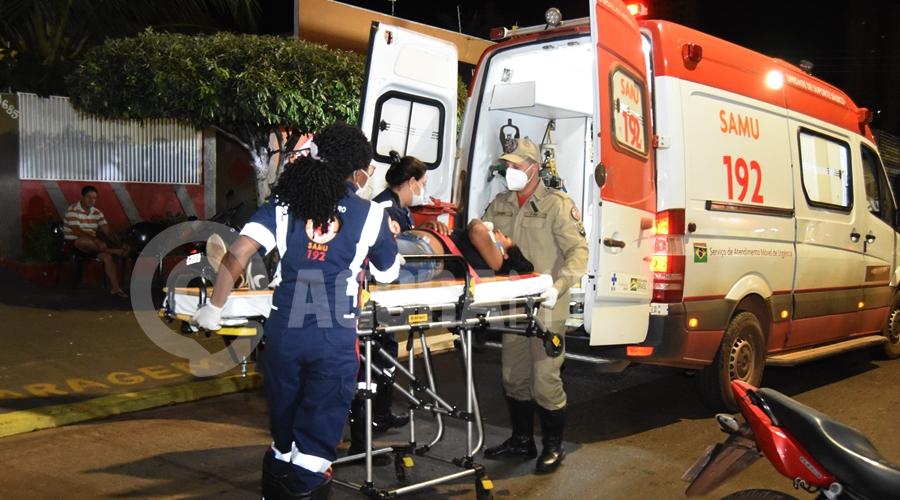 Imagem: A virtima foi atropelada por um Jeep Condutor de Jeep atropela motociclista que voltava do trabalho e foge do local
