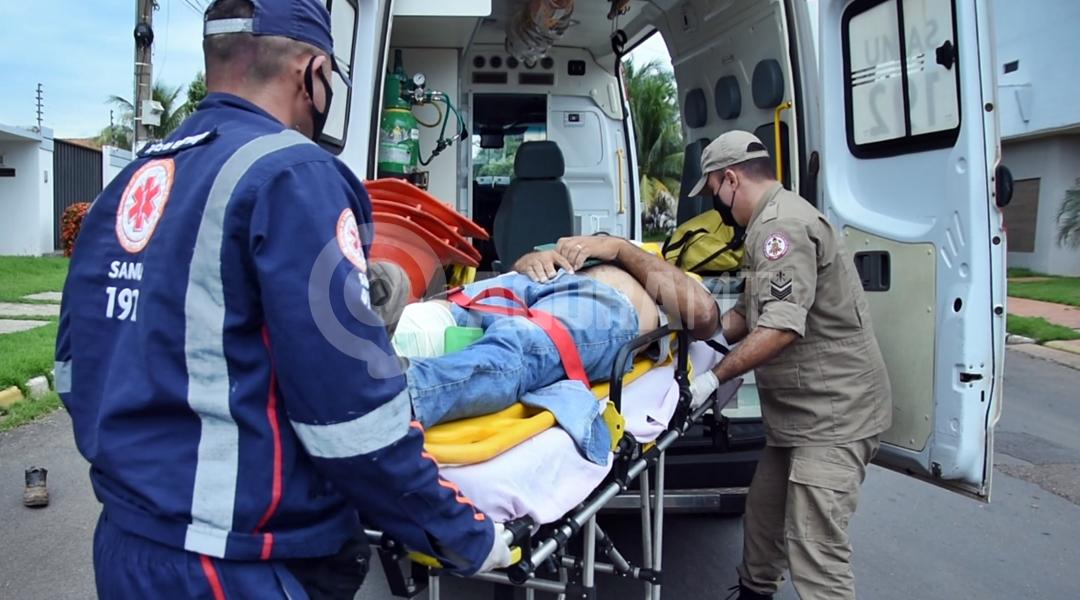 Imagem: Acidente deixa duas vitimas feridas na Vila Aurora roo Mais um acidente é registrado entre moto e carro em Rondonópolis