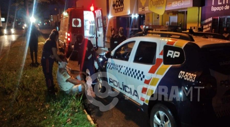 Imagem: Acidente em Tangara da Serra 3 Motociclista fica ferido em acidente com carro