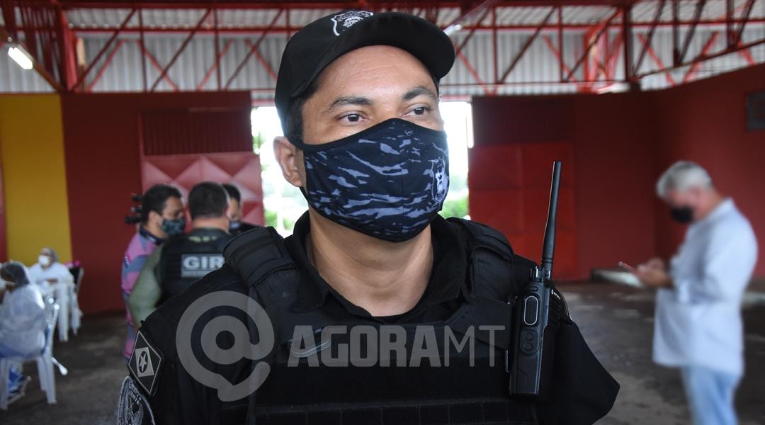 Imagem: Ailton Ferreira diretor Mata Grande Rondonópolis é a 1ª cidade de MT a imunizar profissionais da segurança