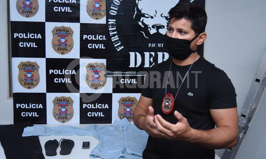 Imagem: Delegado Santiago Sanches Suspeito que afundou o crânio de funcionário com barra de ferro é preso