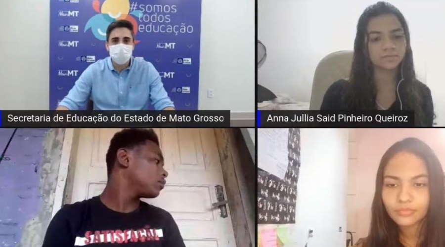 Imagem: EDUCACAO FORUMONLINE Fórum online discutiu papel dos grêmios e combate à evasão escolar em MT
