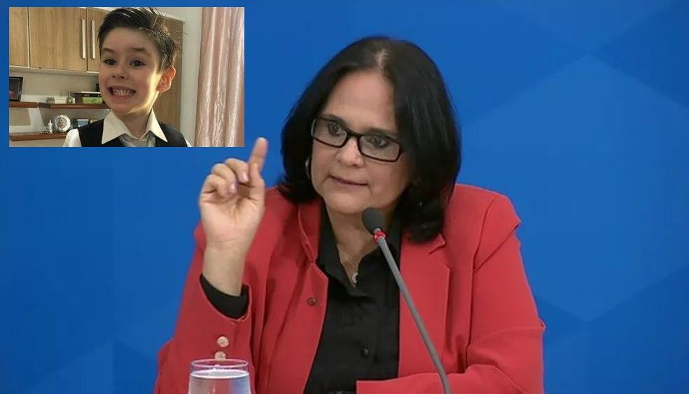 Imagem: Ministra Damares Ministra da Família se encontra com delegado do caso Henry