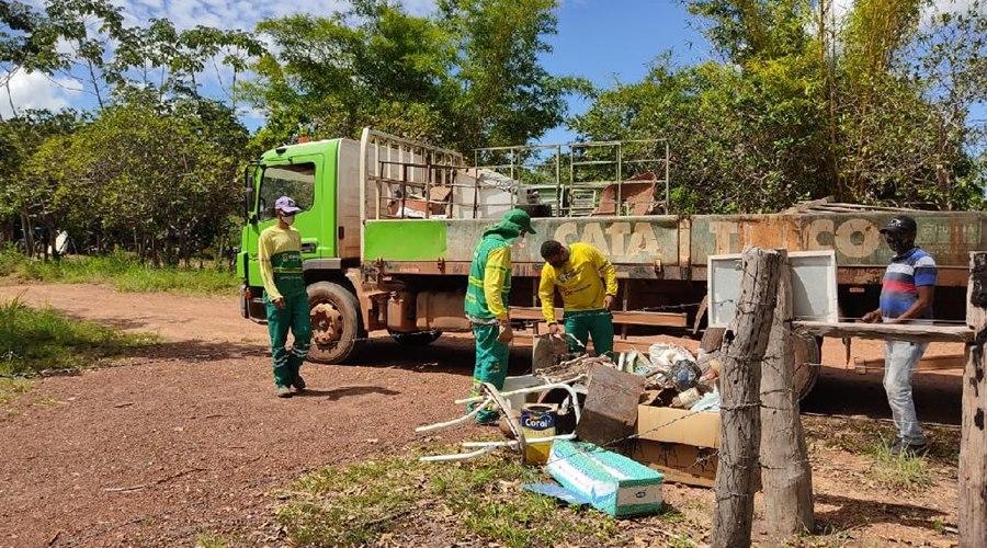 Imagem: Residuos reciclaveis Ação na Comunidade São Gerônimo recolhe 1 tonelada de resíduos recicláveis