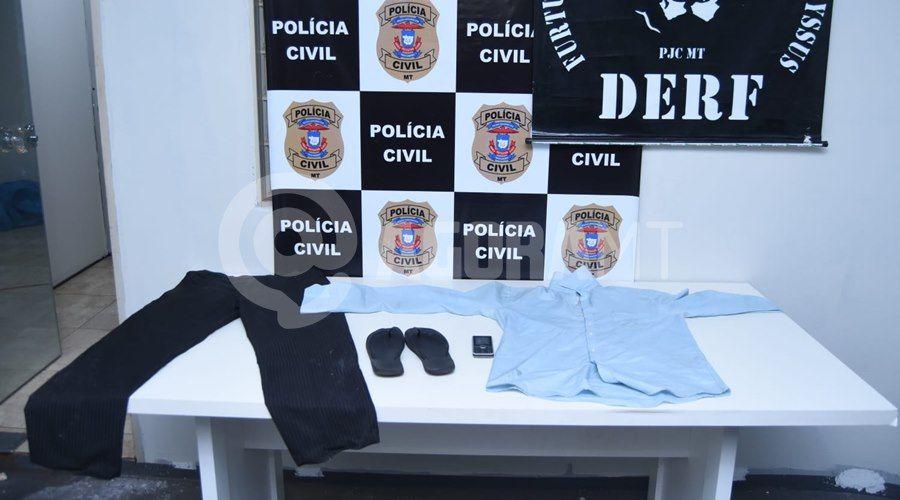 Imagem: Roupa utilizada por um dos suspeitos Suspeito que afundou o crânio de funcionário com barra de ferro é preso