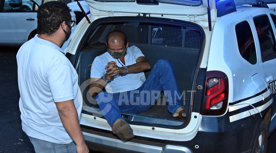 Imagem: Suspeito preso pela DHPP por duplo homicido Autor de duplo homicídio é preso pela Polícia Civil de Rondonópolis