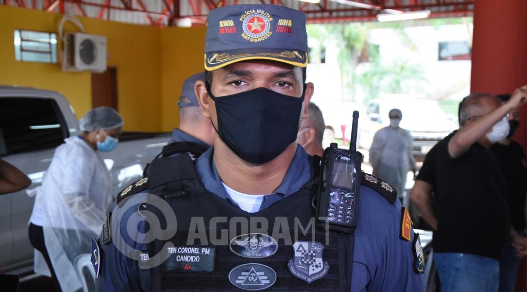 Imagem: Ten Coronel Pm Candido Moreno Rondonópolis é a 1ª cidade de MT a imunizar profissionais da segurança