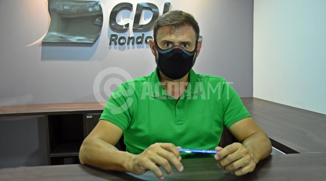 Imagem: Thiago Speranca presidente CDL Presidente da CDL vai falar sobre novo decreto em Rondonópolis