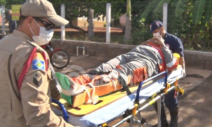 Imagem: acidente rondonopolis Motociclista fica ferido após batida com carro em Rondonópolis