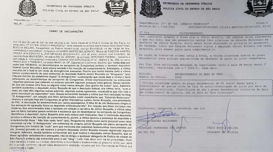 Imagem: bo bols Discussão entre deputados federais do PSL vira caso de polícia em SP