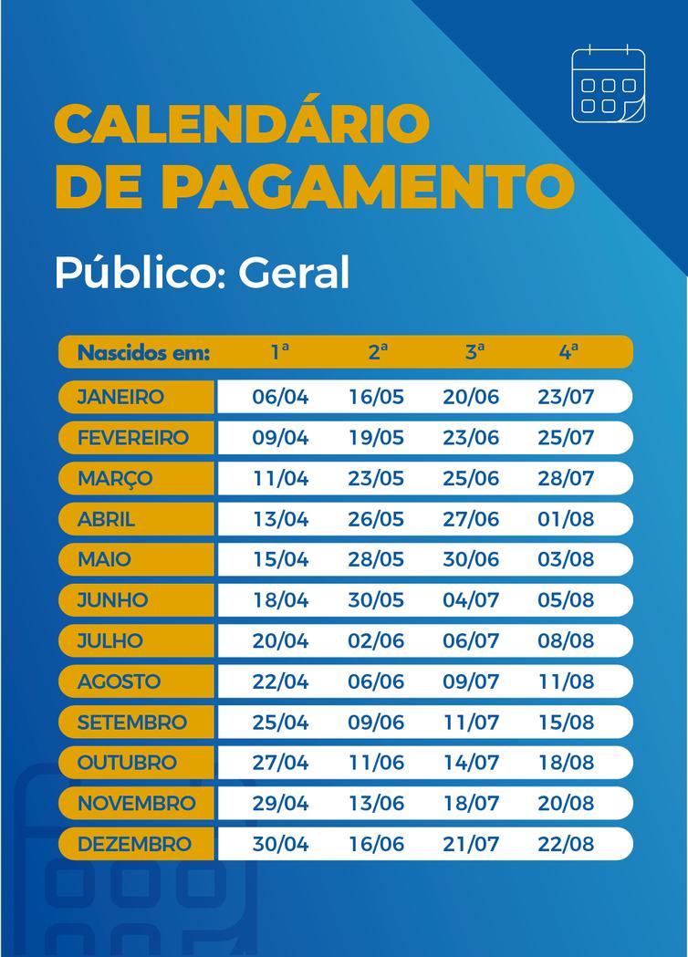 Imagem: calendario maio Caixa paga auxílio emergencial a nascidos em maio